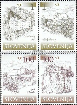 slovenia 298-301 Couples mint never hinged mnh 2000 fortresses and castles