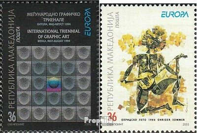 Macedonia 279-280 mint never hinged mnh 2003 poster art