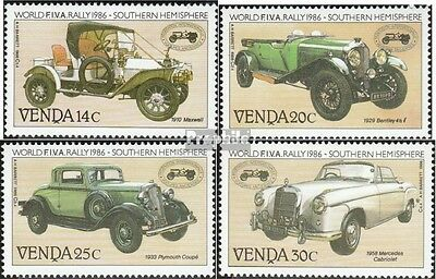 Venda 146-149 mint never hinged mnh 1986 Veteran Car-rally