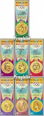 Equatorial Guinea 163-169 mint never hinged mnh 1972 Medalists Olympia