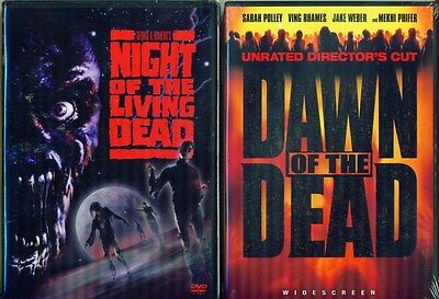 NIGHT OF THE LIVING DEAD 1-2-3: Trilogy-Dawn Dead-Day Dead-The Remakes-NEW 3 DVD