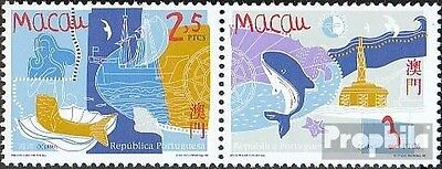 Macao 969-970 Couple mint never hinged mnh 1998 Year of Marine