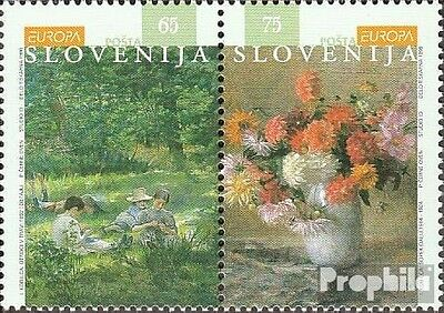slovenia 142-143 Couple fine used / cancelled 1996 Famous Women