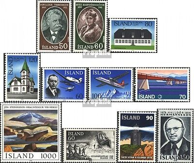 Iceland 528-538 mint never hinged mnh 1978 Complete Volume