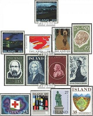 Iceland 500-512 mint never hinged mnh 1975 Complete Volume