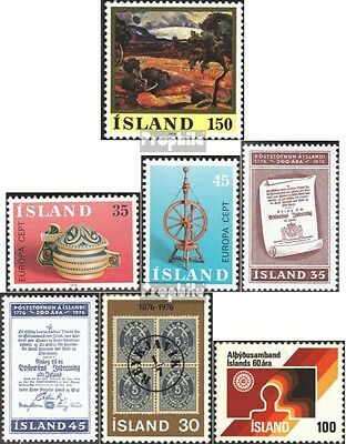 Iceland 513-519 mint never hinged mnh 1976 Complete Volume