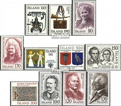 Iceland 539-549 mint never hinged mnh 1979 Complete Volume