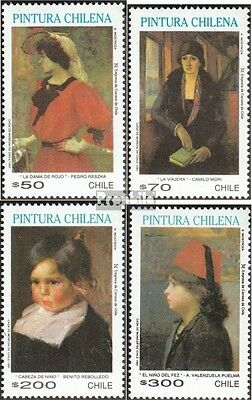 Chile 1462-1465 mint never hinged mnh 1991 Paintings