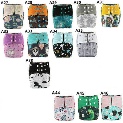 6/lot ALL IN ONE AIO Reusable Cloth Diapers Nappies Charcoal Insert Night Wetter