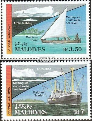 Maldives 1531-1532 mint never hinged mnh 1991 global warming