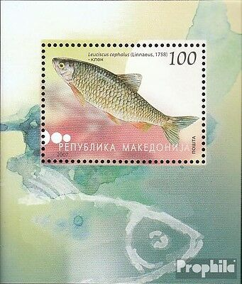 Macedonia block16 mint never hinged mnh 2007 südwasserfische