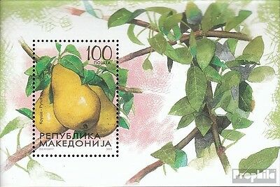 Macedonia block12 mint never hinged mnh 2005 Obstsorten