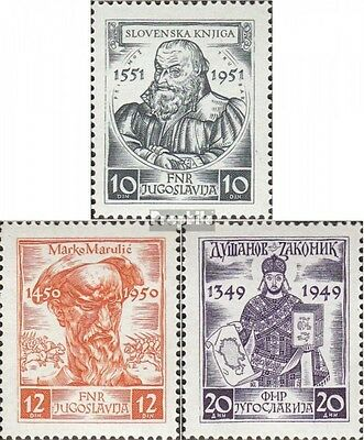 Yugoslavia 668-670 mint never hinged mnh 1951 Medieval Writers