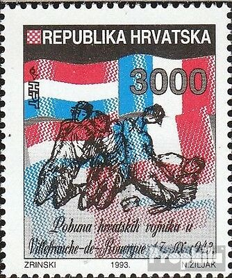 Croatia 258 mint never hinged mnh 1993 Uprising croatian. Soldiers
