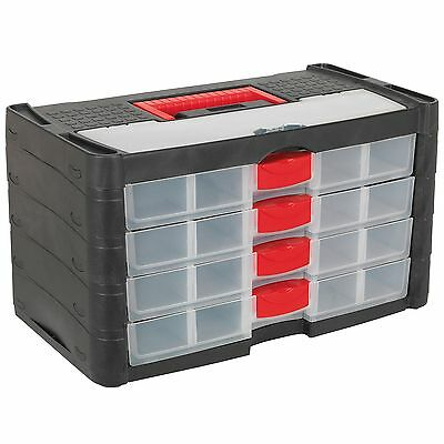 Sealey Stackable Tool Storage Organiser With Carry Handle - 4 Drawer - AP794