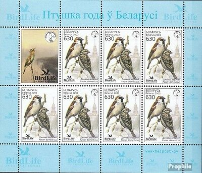 Belarus 484-485 Sheetlet mint never hinged mnh 2003 Birds of Year