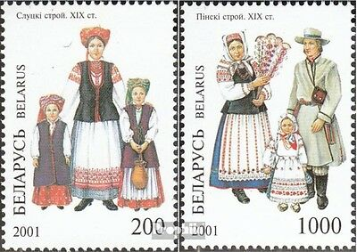 Belarus 412-413 mint never hinged mnh 2001 Costumes