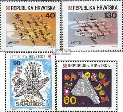 Croatia 213-214,215,216 fine used / cancelled 1992 special stamps