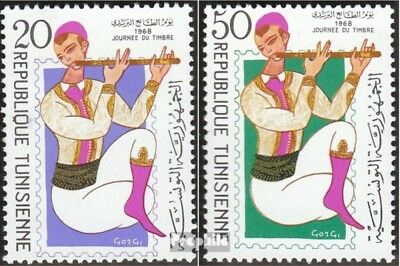 tunisia 705-706 mint never hinged mnh 1968 Day the Stamp