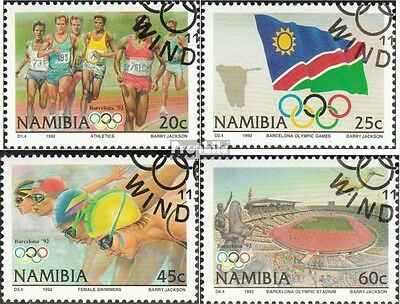 Namibia 727-730 fine used / cancelled 1992 Olympics Summer ´92