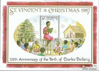St. Vincent block54 mint never hinged mnh 1987 christmas