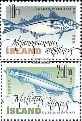 Iceland 960-961 mint never hinged mnh 2000 Nutzfische