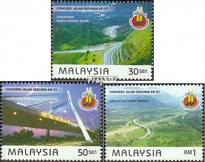 Malaysia 804-806 mint never hinged mnh 1999 road construction