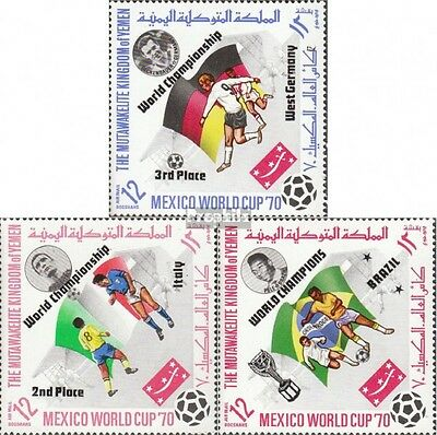 Yemen (UK) 1144A-1146A mint never hinged mnh 1970 Football-WM ´70, Mexico