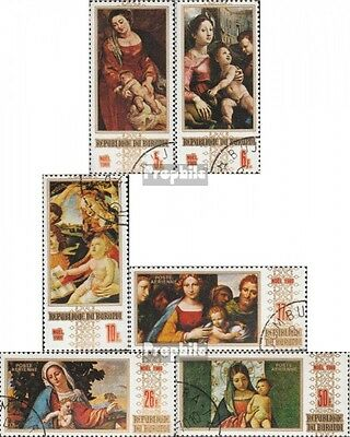 Burundi 531A-536A fine used / cancelled 1969 christmas: Paintings