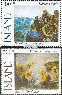 Iceland 842-843 mint never hinged mnh 1996 Paintings