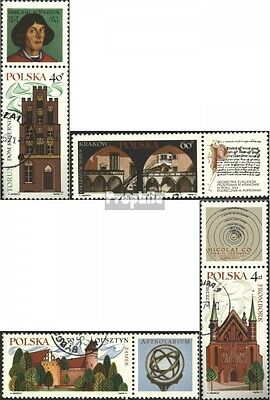 Poland 2088-2091 with zierfeld fine used / cancelled 1971 Tourism