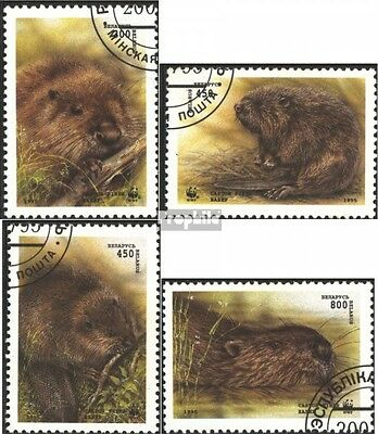 Belarus 96-99 fine used / cancelled 1995 Beavers