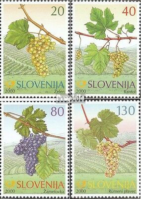 slovenia 320-323 mint never hinged mnh 2000 Old Grapes