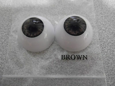 26mm HALF ROUND ACRYLIC EYES IN A VARIETY OF COLOURS