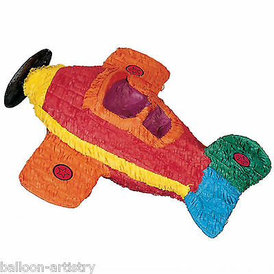 53cm Classic Colourful Toy AIRPLANE Plane BASH Pinata Party Game Decoration