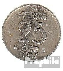 Sweden km-number. : 824 1956 extremely fine Silver extremely fine 1956 25 Öre Cr