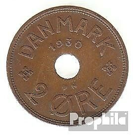 Denmark km-number. : 827 1938 extremely fine Bronze extremely fine 1938 2 Öre Ge
