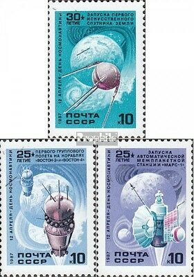 Soviet-Union 5698-5700 fine used / cancelled 1987 Day the Cosmonaut
