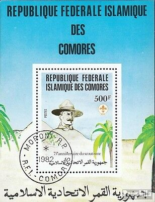 Comoros block230 fine used / cancelled 1982 75 years Scouting