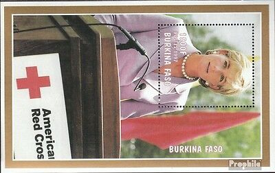 Burkina Faso block175 mint never hinged mnh 1998 1. Death Princess Diana