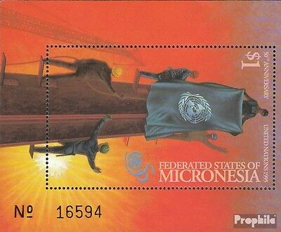 Micronesia block15 mint never hinged mnh 1995 50 years UN
