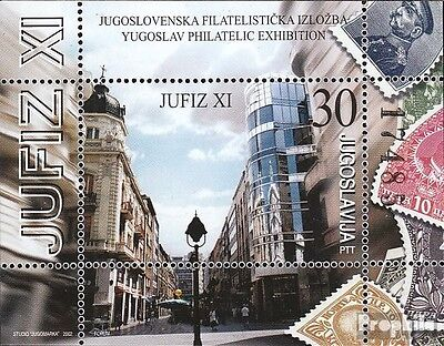 Yugoslavia block55 mint never hinged mnh 2002 Stamp Exhibition