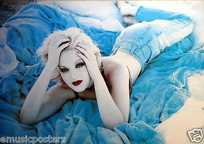 """Drew Barrymore """"laying Down On Plush Blanket"""" Poster From Asia"""