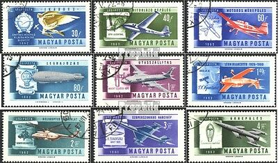 Hungary 1846A-1854A fine used / cancelled 1962 Aerobatics Championships