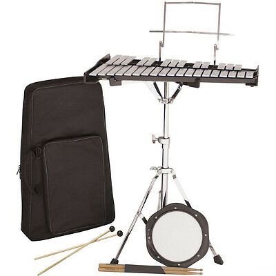Percussion Plus PK32 32-Note School Student Bell Kit/Xylophone Set and Drum Pad