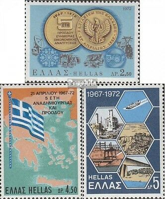Greece 1103-1105 (complete issue) unmounted mint / never hinged 1972 military co
