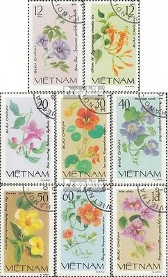 Vietnam 1137-1144 (complete issue) used 1980 Flowers