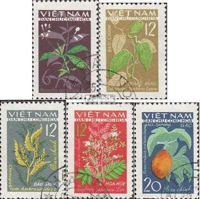 Vietnam 287-291 (complete issue) used 1963 Medicinal Plants