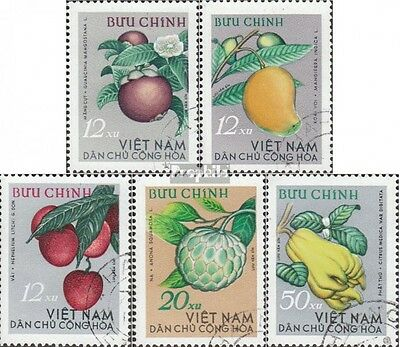 Vietnam 334-338 (complete issue) used 1964 Tropical Fruits