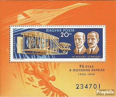 Hungary Block129A (complete issue) unmounted mint / never hinged 1978 Motorflug